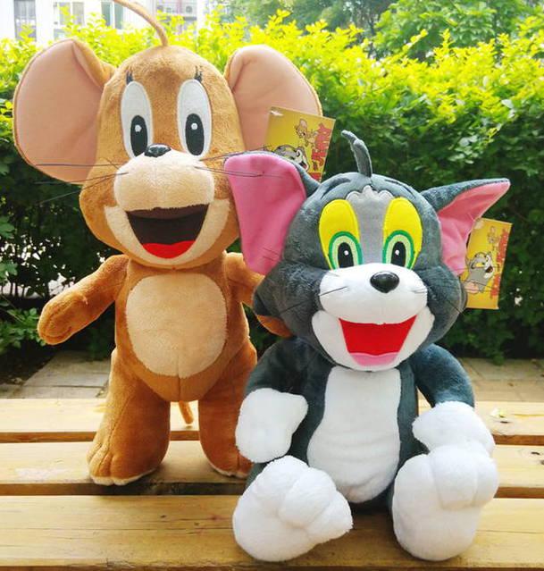 Tom und Jerry Kater und Maus Plüschtier Set 70cm XXL