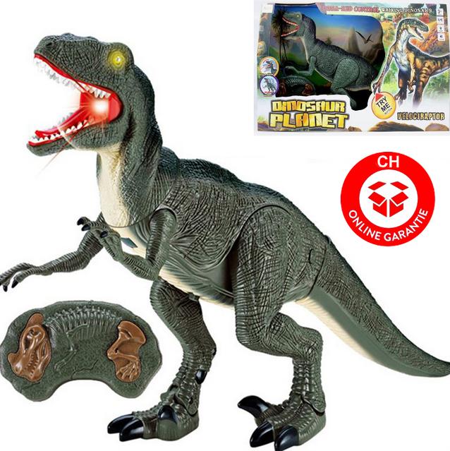 Velociraptor RC Infrarot Spielzeug Dinosaurier Dino Ferngesteuert Geschenk für Kinder Weihnachten Geschenktipp