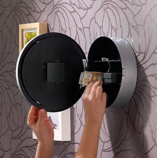 Wanduhr Uhr mit Tresor Safe Geheimversteck Spy Versteck Sicherheit Zuhause