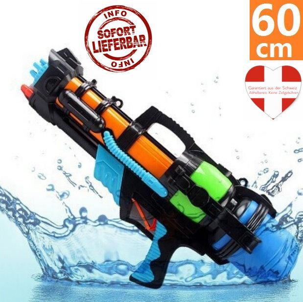 Wasser Gewehr Wassergewehr Pistole XXL 60cm mit grosser Reichweite Sommer-Spielzeug Garten und Strand Spritz-Pistole für Kinder und Erwachsene