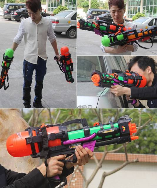 Wasserpistole 60cm Wassergewehr Spritzpistole Pumpgun XXL Sommer Wasser Spielzeug Wasser Gewehr Pistole