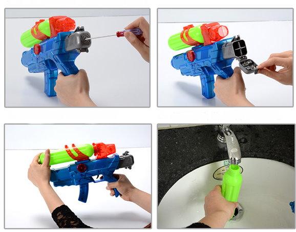 Wasserpistole Wassergewehr Automatisch Batterien Sommer Spielzeug Spass Kinder Kids Gewehr