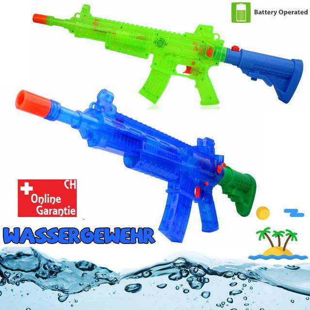 Wasserpistole Wassergewehr Automatisch Batteriebetrieb Wasser Pistole Gewehr Spielzeug LED und Soundeffekte Sommer Wasser Sommer Spielzeug Kind Erwachsene Wasserspielzeug
