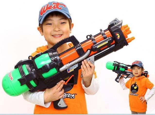Wasserpistole Wassergewehr Spritzpistole Pumpgun XXL Sommer Wasser Spielzeug 60cm Kind Kinder Wasserspielzeug Sommer