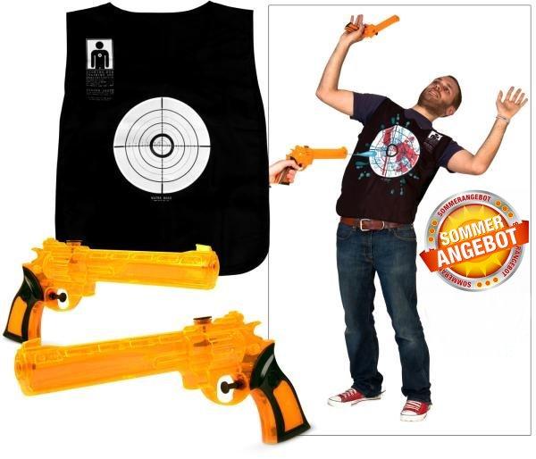 Wasserpistole Wassergewehr Wasser Pistolen Westen Set Spielzeug Sommer Spass Kind Kinder Badi Zuhause Outdoor Garten Blutige Westen