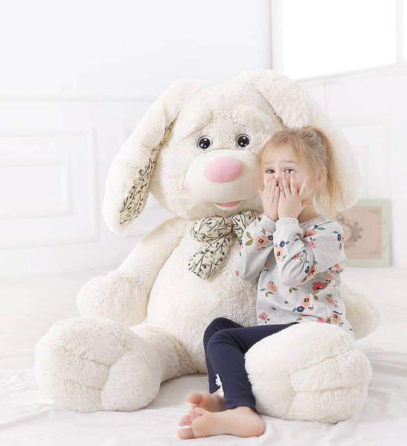 Weisser Süsser Plüsch Hase Plüschhase Plüschtier Bunny Hasi Osterhase Kaninchen White Geschenk Kinder Freundin 120cm XXL