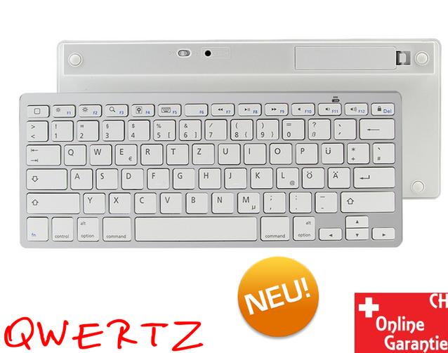 QWERTZ Funk Wireless Tastatur Deutschsprachig Bluetooth Windows PC Tablet Android macOS Apple iPad iPhone