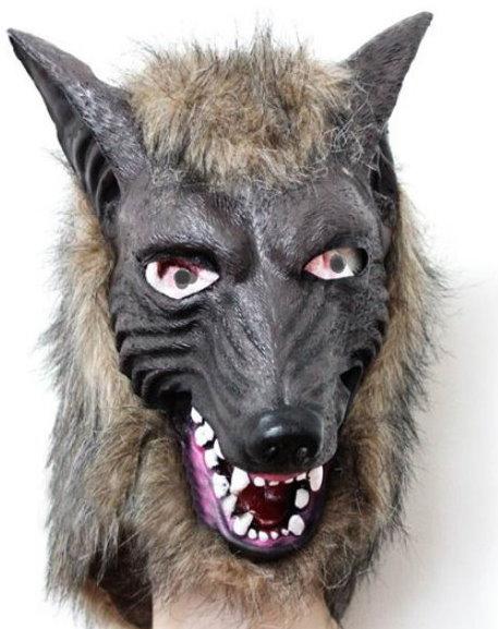 Wolf Maske Tiermaske Fasnacht Wallis Lustig Party Horror Wolfsmake Tiermaske