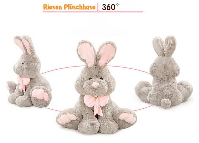 XXL Plüschhase Hase Kuscheltier Supersoft 120cm NEU Valentinstag