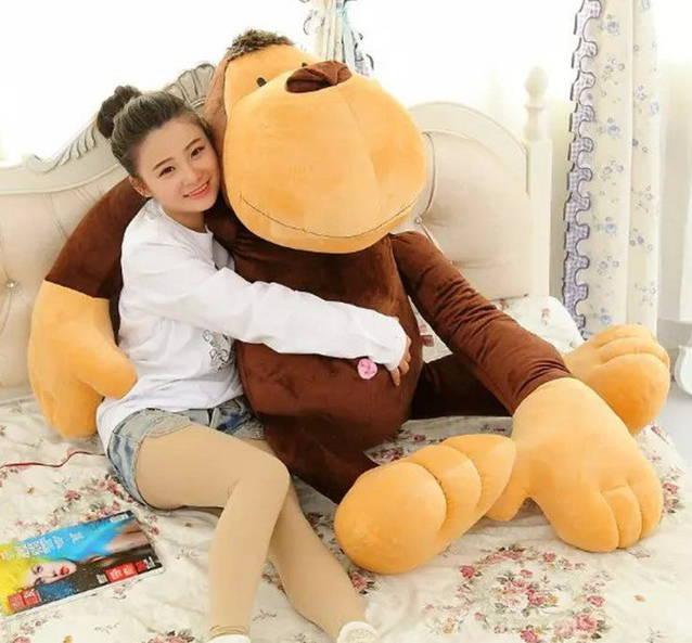 XXL Riesen Affe 150cm XXL Plüschaffe Monkey Geschenk Kind Kinder Frau Weihnachten Geburtstag