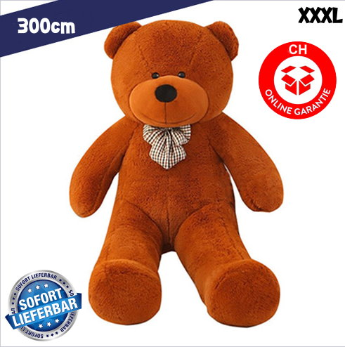 XXL XXXL Riesenteddybär Riesen Teddy Teddybär liegend sitzend 300cm Bär dunkelbraun Geschenk Weihnachten Kind Frau Freundin