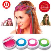 Hot Huez Temporary Hair Chalk - Haarkreide, Tönung, Färben, Farbe - 4 Farben Fasnacht Party Spontan Haarfärbe Frau