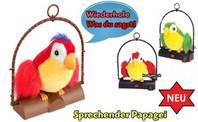 Sprechender Papagei - Papagei spricht nach  Plüschtier Papagei Geschenk Vogel Kinder