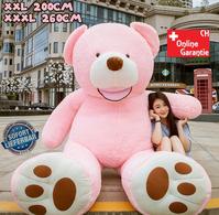 Teddybär Plüsch Bär Teddy Pink 200cm 260cm Geschenk XXL XXXL 2.0m 2.6m Frau Freundin Girl Mädchen Weihnachten