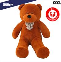 Teddybär XXXL 300 cm Teddy Bär Plüschbär Kuschel Tier Plüschtier Geschenk Kind Kinder Freundin Geburtstag Valentinstag Weihnachten