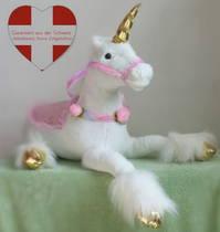 XXL Einhorn Plüschtier Kuscheltier Schmusetier Plüsch XXL Geschenk Pferd Mädchen Pink Rosa Weiss Kinderzimmer