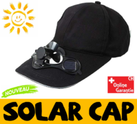 Baseball Cap Mütze Kappe mit integriertem Ventilator Sommer Klima Gadget Outdoor Ferien Openair Festival Cool
