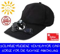 Baseball Cap Solar Mütze Kappe integriertem Ventilator Sommer Gadget Fan Kühlung Kleidung Openair Camping Ferien Sonne Solarbetrieben
