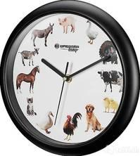 Bauernhof-Uhr - Wanduhr für Kinder, 12x ein Tier
