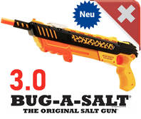 Bug-A-Salt Orange Crush 3.0 Bug a Salt Flinte Fliegen Jagd Fliegenkiller Salz Gewehr Schrotflinte Salzgewehr Luftdruckgewehr gegen Insekten Fliegenklatsche
