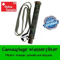 Camouflage Militär Wasserfilter Wasser Filter Fluss See Wandern Outdoor Draussen Ferien Camping