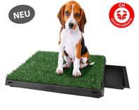 Deluxe Hunde Klo WC Hundeklo Hundewc Welpen Trainingsgerät USA Klo HIT Stubenrein mit Behälter