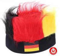 Deutschland Fan Strubbelhaar Fankappe Lustig Fussball EM WM Germany Flagge