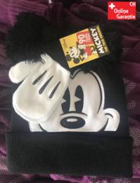 Disney Micky Maus Mickey Mouse Kinder Winterset mit Mütze Cap Handschuhe Set