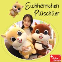 Eichhörnchen Plüsch Plüschtier Kuscheltier Stofftier XL Grösse Love U 60cm Geschenk Kind Kinder Frau Freundin Waldtier