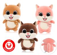 Eichhörnchen Plüsch Plüschtier Stofftier Spielzeug Wald Waldtier Geschenk Kind Frau Freundin ca. 60cm 3 Farben Süss