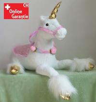Einhorn Plüschtier Plüsch Pferd Geschenk Kinder Mädchen XXL Grösse Geschenk ca. 110cm Pink und Weiss im Angebot