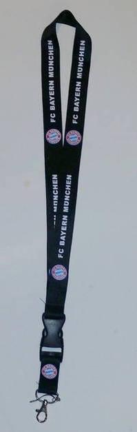 FC Bayern München FCB Bayer Schlüsselanhänger Schlüsselband Schlüsselanhänger Schlüsselband Logo Keychain Personalausweis Fand Logo Schlüssel Band Anhänger Keychain Personalausweis Schwarz