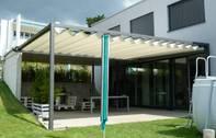 Faltpergola 3x5m, Terrassenüberdachung, Wetterschutz