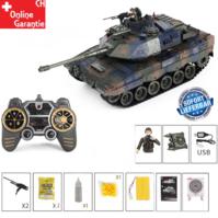 Ferngesteuerter Militär Panzer Tank RC Leopard Airsoft Softair BB Kugeln Schiess Funktion Spielzeug