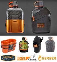 GERBER Bear Grylls Flasche 1 Liter Tasche Auslaufsicher Kochen Wasserflasche Feldflasche Militärkantine Cup Reisen Camping Reise