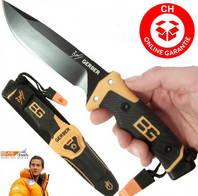 Gerber Bear Grylls Ultimate PRO Messer Surival Jagd Campingmesser mit Full-Tang Klinge und viel Ausstattung DMAX Serie