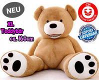 Grosser Plüschbär Teddy Teddybär Geburtstag Geschenk Kinder Kind Freundin Weihnachtsgeschenk 160cm XXL