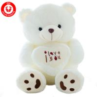 Grosser Teddy Bär Plüschbär mit Herz I love You Ich liebe dich Glücksbringer Geschenk Frau Freundin Kind 110cm