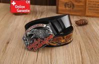 Harley-Davidson Fan Harley Biker Gurt Gürtel Adler Gürtelschnalle
