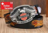 Harley-Davidson Fan Harley Biker An American Legend Gurt Gürtel Adler Gürtelschnalle
