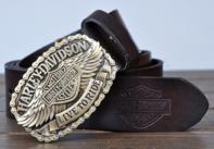 Harley Davidson Original Gürtel Echt Leder 3 Farben Fan Neu Liebhaber Ihn