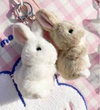 Hasen Hase Plüsch Schlüssel Anhänger Schlüsselanhänger Süsses Geschenk Kind Frau Freundin Süss Herzig