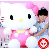 Hello Kitty Hallo Katze Plüschtier XXL Pink Rosa Herzig Süss Geschenk Kind Frau Freundin Fan