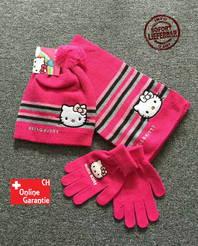 Hello Kitty Hellokitty Cap Mütze Handschuhe und Schal Mädchen Girl Winter Set
