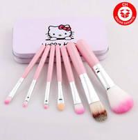 Hello Kitty Hellokitty Pinsel Pinselset Beauty 7 teiliges Set Bürsten Geschenk Mädchen