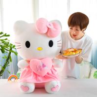Hello Kitty Hellokitty Plüsch Cat Plüschtier Herz Love Liebe 70cm Geschenk Girl Mädchen Pink Rosa