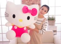 Hello Kitty Hellokitty Plüschtier Gross Katze Plüsch Gross Mädchen Pink Geschenk 1m 100cm