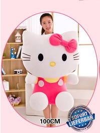 Hello Kitty Plüsch Plüschtier Plüschkatze Hellokitty Geschenk 100cm XXL Gross Mädchen