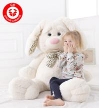 Herziger Plüsch Hase Plüschtier Plüschhase Kaninchen 120cm XXL Gross Geschenk Kinder