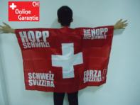 Hopp Schwiiz Alles Suisse Forza Svizzera Schweiz Switzerland Fan Flagge Fussball Hockey WM EM Umhängefahne
